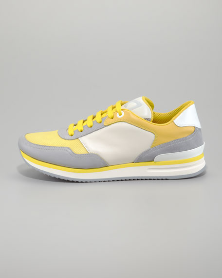 Tower Runway Sneaker, Pearl/Yellow