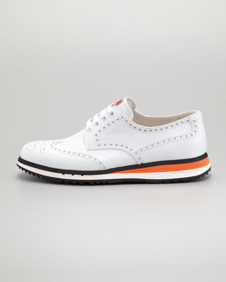 Sneaker-Sole Wing-Tip, White