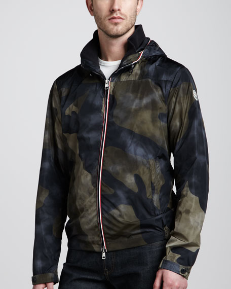 Packable Hooded Camo Jacket