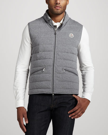 Cotton Puffer Vest, Gray