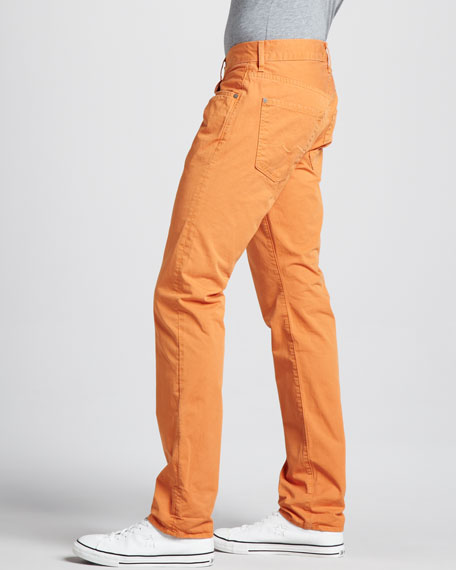 The Straight Twill Pants, Citrus