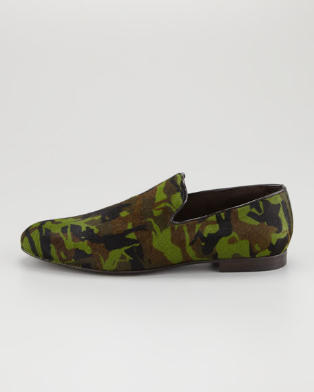 Sloane Men's Calf Hair Slipper, Camo