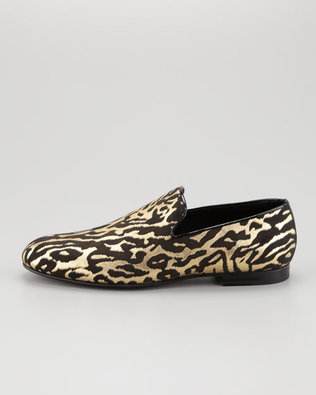Sloane Leather Hair Slipper, Zebra