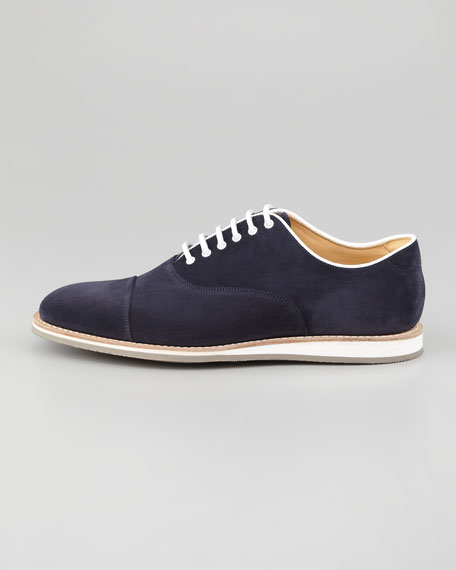 Hirst Suede Lace-Up Oxford, Navy