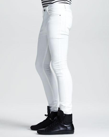 Lightweight Skinny Jeans, White