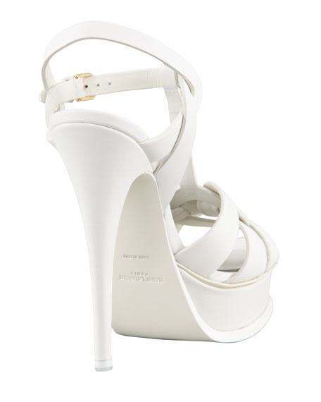 New Tribute Platform Sandal, White