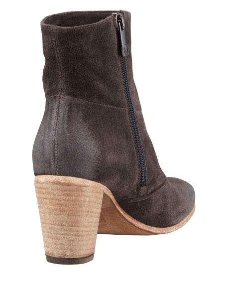 Diva Suede Ankle Boot, Anthracite