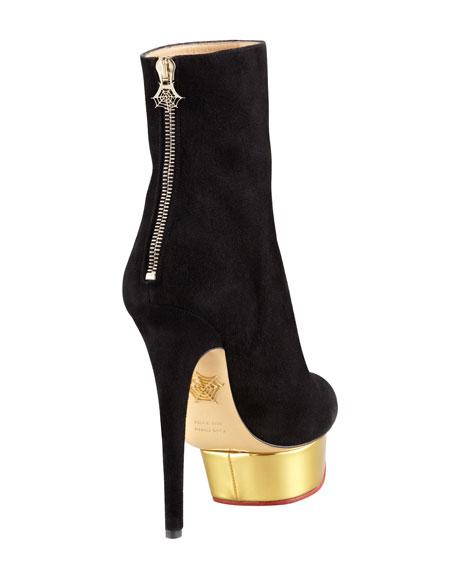 Lucinda Platform Suede Ankle Boot