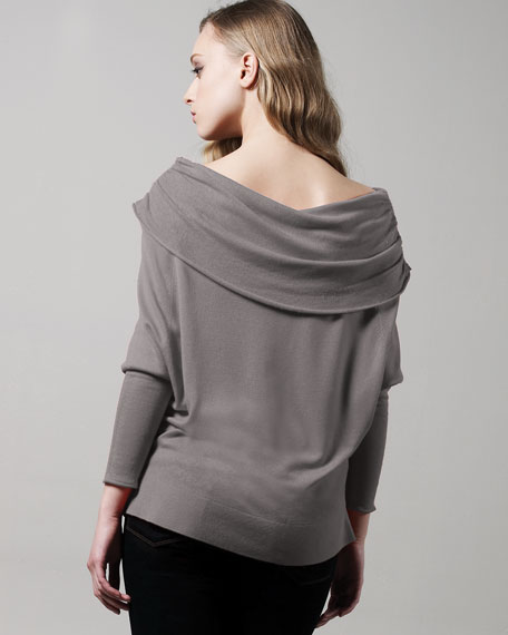 Silk-Cashmere Dolman Sweater
