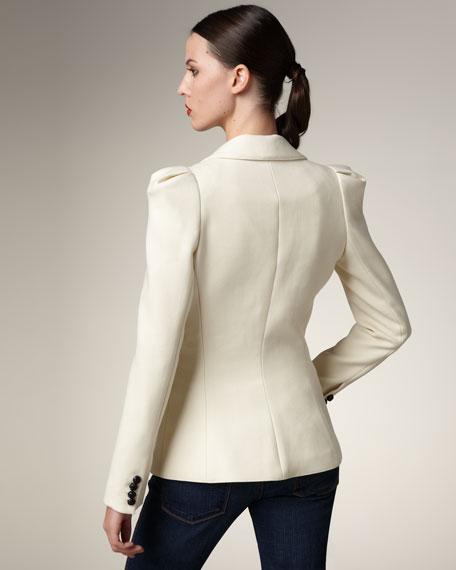 Puff-Shoulder Blazer