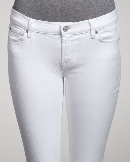 The Skinny Crop & Roll Clean White Jeans