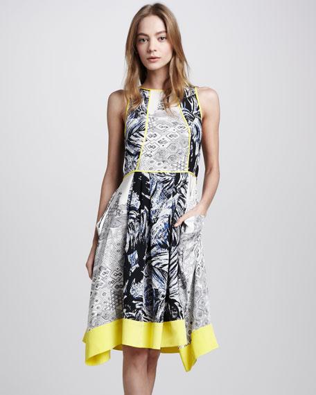 Tahiti Print Sleeveless Dress