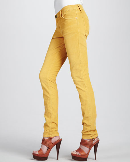 The Skinny Vintage Mustard Jeans