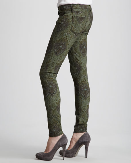 Verdugo Leggings, Green Paisley