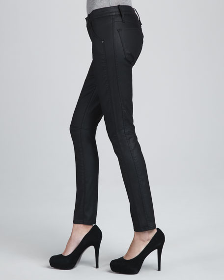 Abyss Coated Skinny Ankle Jeans