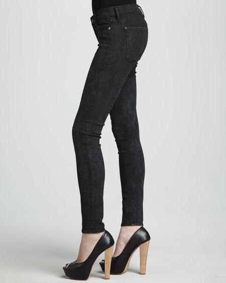 The Skinny Laser Snake-Print Jeans