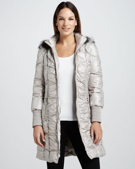 Isla Fur-Trim Puffer Coat