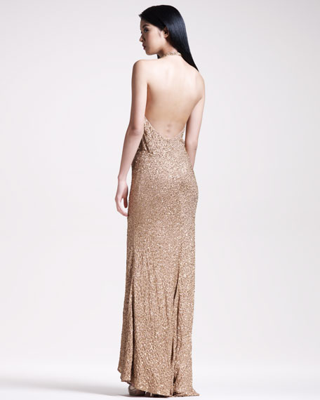 BG 111th Anniversary Beaded Halter Gown