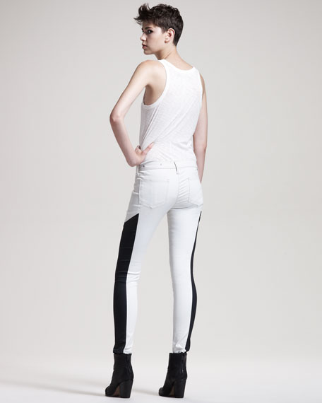 Grand Prix Paneled Leggings, Winter White