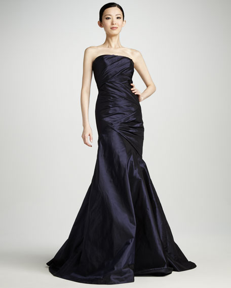 Ruched Taffeta Gown & Stole