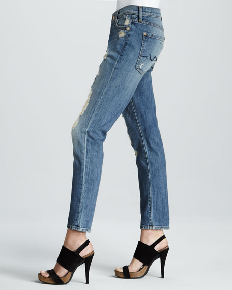 Josefina Luminous Light Destroy Skinny Boyfriend Jeans