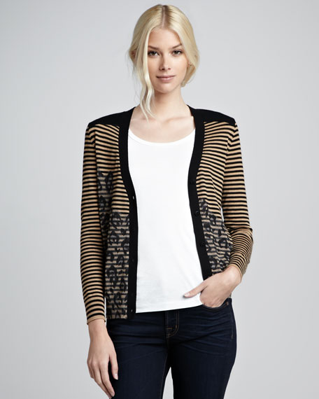 Brady Mix-Pattern Cardigan