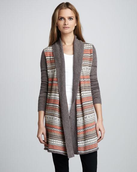 Fair Isle Tie-Waist Sweater