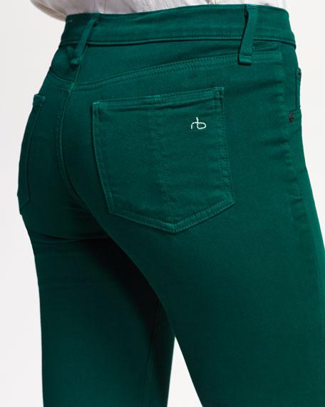 Plush Twill Leggings, Emerald