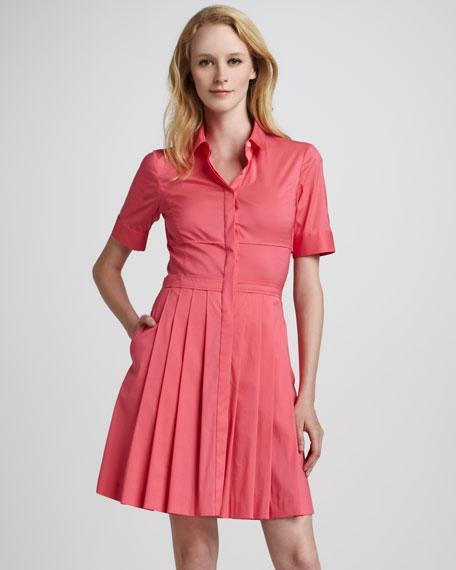 Sensa Pleat-Skirt Shirtdress