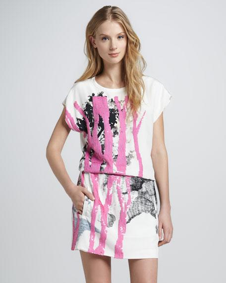Tara Branch-Print Dress