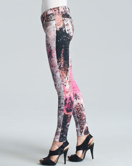 Supernova-Print Skinny Jeans