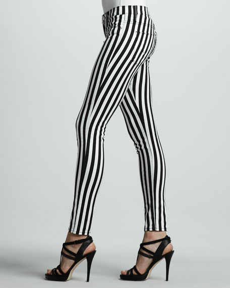 Kristy Striped Skinny Jeans