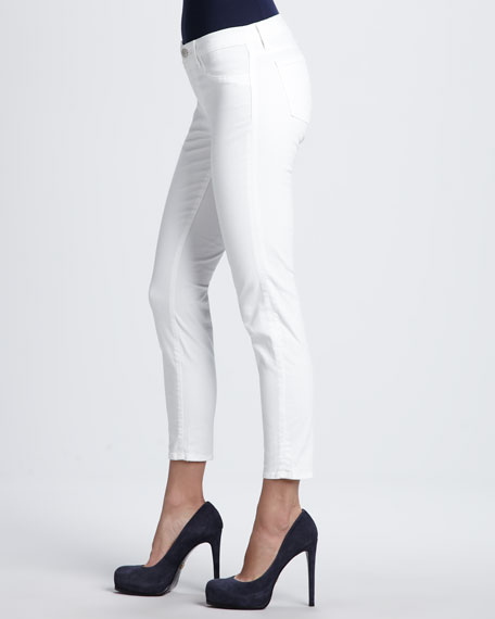 835 White Cropped Jeans