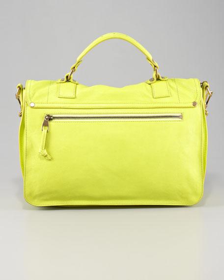 PS1 Medium Satchel Bag, Citron