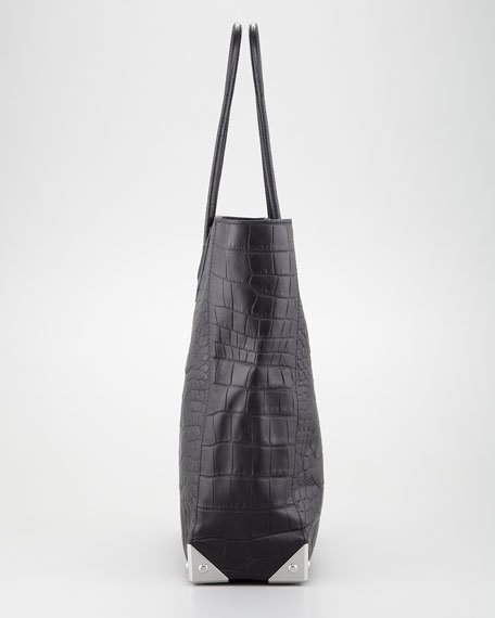 Prisma Crocodile-Embossed Tote Bag