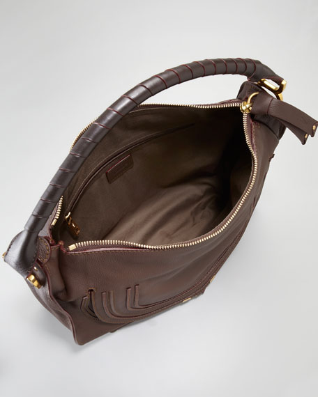 Marcie Large Hobo Bag, Truffle