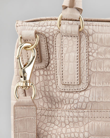 Pandora Crocodile-Embossed Medium Bag