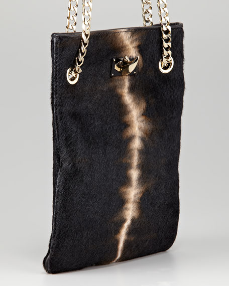 Pony Effect Fur Chain Bag