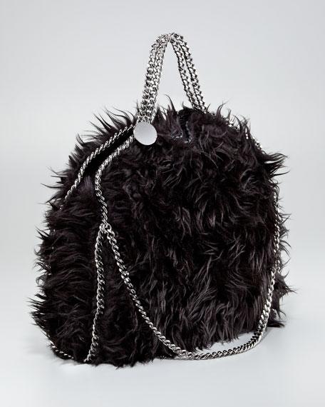 Falabella Furry Fold-Over Tote Bag