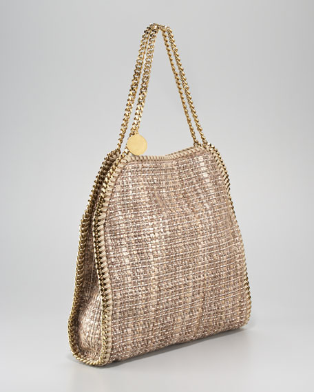 Metallic Boucle Baby Bella Tote Bag