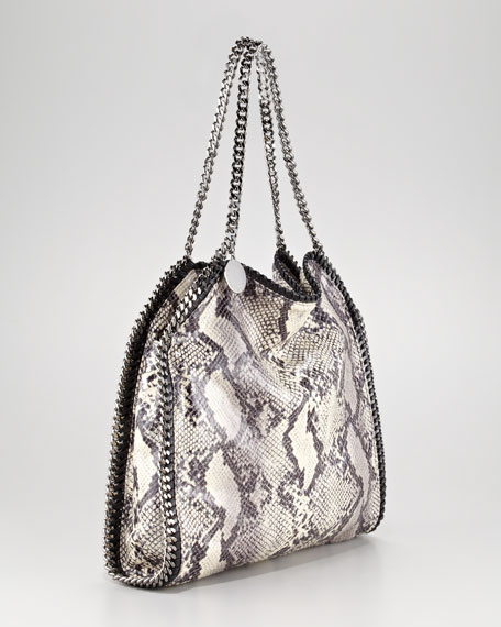 Baby Bella Faux-Python Shoulder Bag