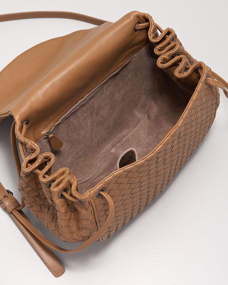 Woven Leather Messenger Bag