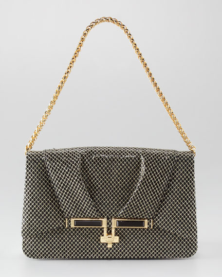 Priscilla Glitter & Mesh Shoulder Bag