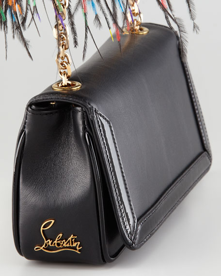 Artemis Ostrich Feather Shoulder Bag