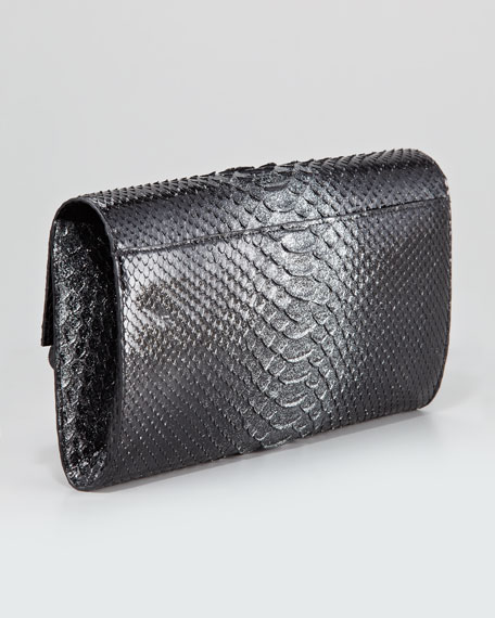 Crocodile-Python Clutch Bag