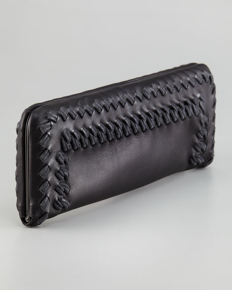 Passameneria Large Flat Clutch Bag