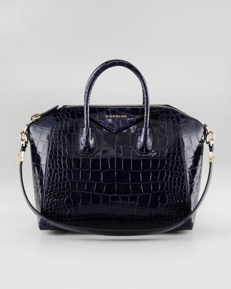 Antigona Crocodile-Embossed Duffel Bag, Medium