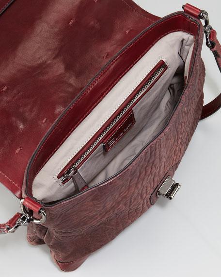 Varick Pebbled Lambskin Satchel Bag