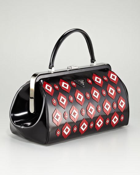 Diamond Spazzolato Doctor's Bag, Viola