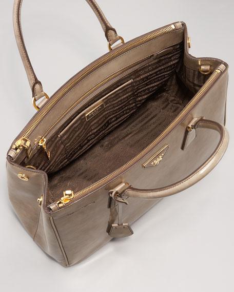 Spazzolato Double-Zip Tote Bag